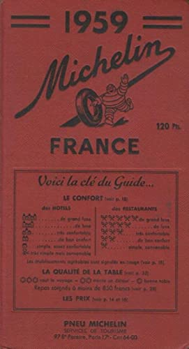 Guide Michelin France 1959