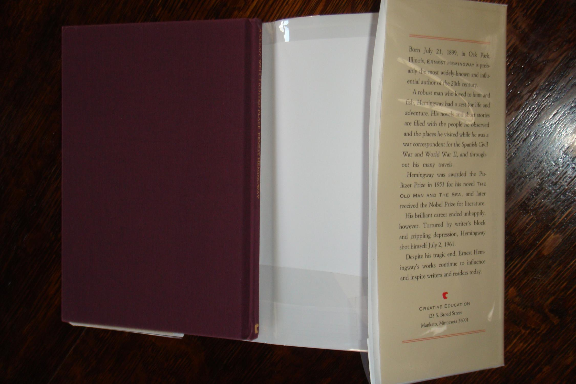 old literary analysis hemingway s clean well lighted place Home essays hemingway tone analysis hemingway tone analysis a clean, well lighted place, where hemingway an old man's recently attempted.