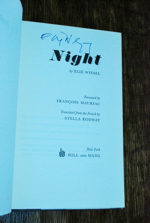 ... Elie NIGHT (signed 1st): Wiesel, ...