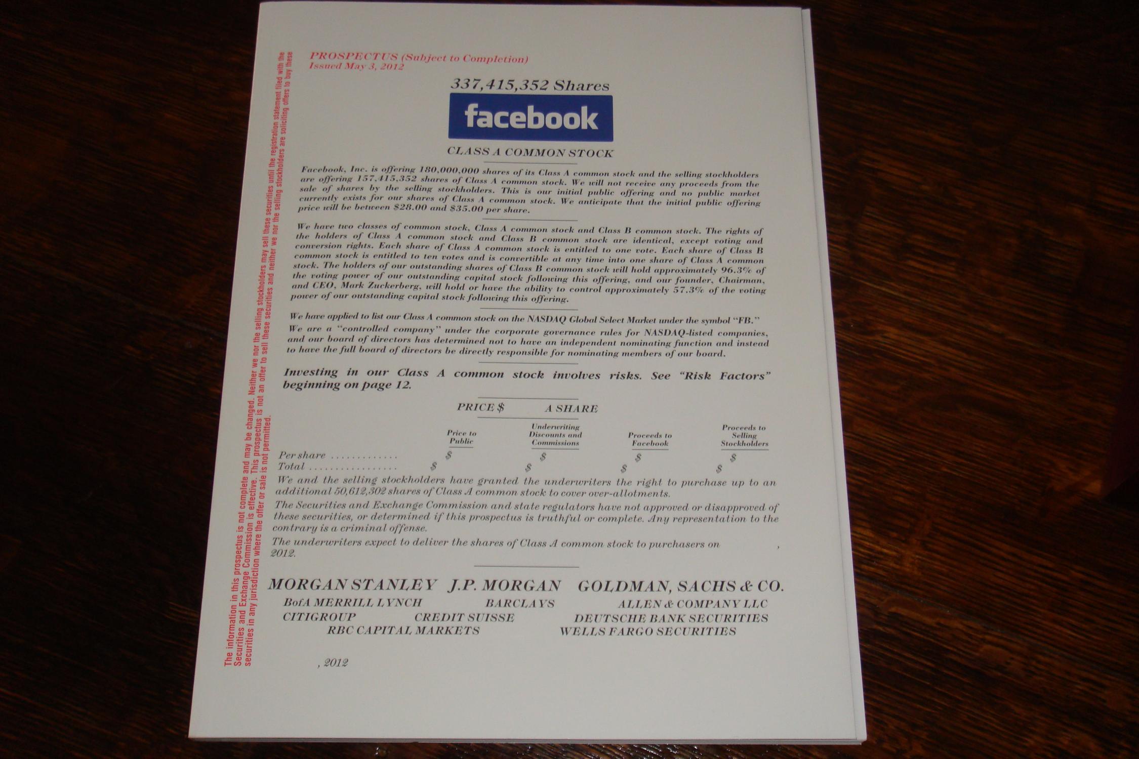 Facebook original prospectus nyc ipo lunceon lanyard by facebook facebook original prospectus nyc ipo lunceon lanyard facebook ceo mark zuckerberg buycottarizona