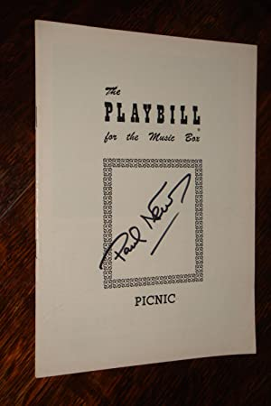PICNIC signed by Paul Newman (professional debut) 1954 Playbill