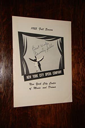 New York City Opera Company Playbill SIGNED 1955 Beverly Sills debut