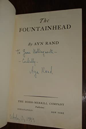 The Fountainhead (inscribed by Ayn Rand)