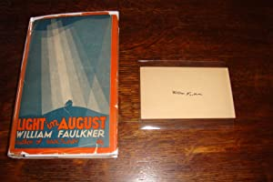 Light in August - 1st ediion, 1st printing