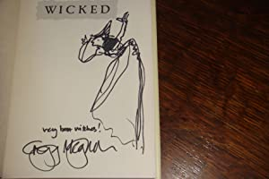 WICKED (signed 1st + sketch of witch)