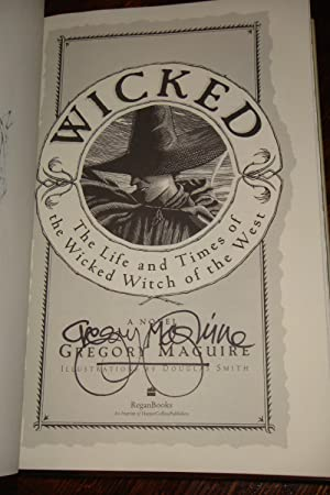 WICKED (signed 1st + sketch of witch + original playbill): Maguire, Gregory