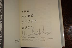 THE NAME OF THE ROSE (signed 1st): Eco, Umberto
