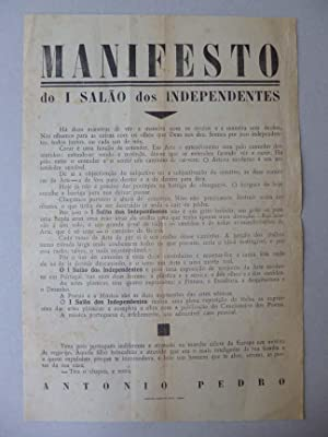MANIFESTO DO I SALAO DOS INDEPENDENTES: Antonio PEDRO