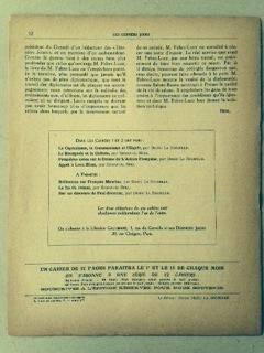 LES DERNIERS JOURS - Cahier politique et littéraire. no. 3.: Pierre DRIEU LA ROCHELLE, ...