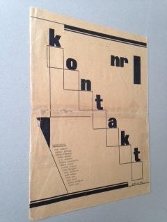 KONTAKT NO. 1. Avant garde periodical.: Erik ASKLUND, Gunnar BJÖRLING, Elmer DIKTONIUS, Rabbe ...
