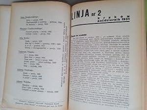 LINJA - Czasopismo awangardy literackiej - Front Ogolny.: Jalu KUREK, Jan BRZEKOWSKI, Juljan ...
