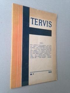 TERVIS no.1 - Avant garde cover. Estonia.