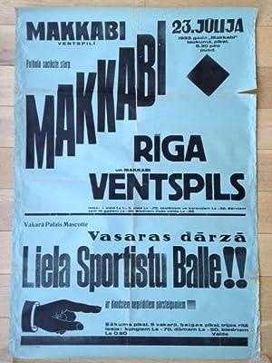 MAKKABI - RIGA - VENTSPILS. Latvia.