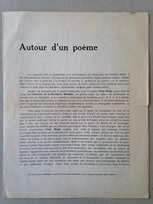 AUTOUR D'UN POEME - Tract surréaliste.: Maxime ALEXANDRE, Pierre UNIK