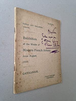 EXHIBITION OF THE WORKS OF MODERN FRENCH ARTISTS - 3 documents: Henri MATISSE, Henri Le SIDANER, ...