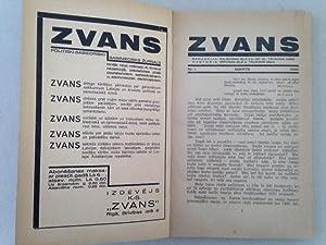 ZVANS - Politiski-Sabiedriski-Saimniecisks Zurnals. Nos. 1 à 4/5. (Latvian avant-garde)...