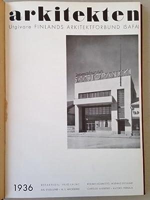 ARKITEKTEN - Utgivare / Finlands Arkitektförbund (S.A.F.A.). 5 années.: Alvar ...