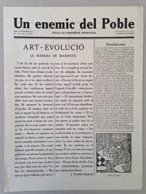 UN ENEMIC DEL POBLE - Fulla de Subversio Espiritual - Nos. 1 à 9. Ultraism - Futurism.: ...