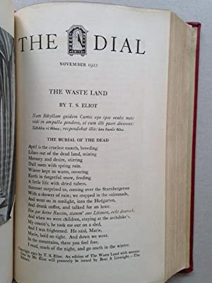 DIAL - 1920-1929. Complete set as a modernist literary magazine.: T.S. ELIOT, Marc CHAGALL, Franz ...