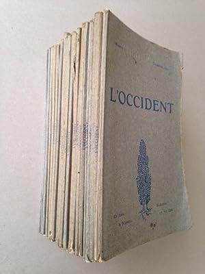 L'OCCIDENT - Architecture. Sculpture. Peinture. Musique. Poésie. Nos. 1 à 32. ...
