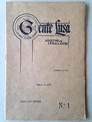 GENTE LUSA - Arquivo de Letras e Artes. Nos. 1 à 5. Collection complète.: Afonso ...