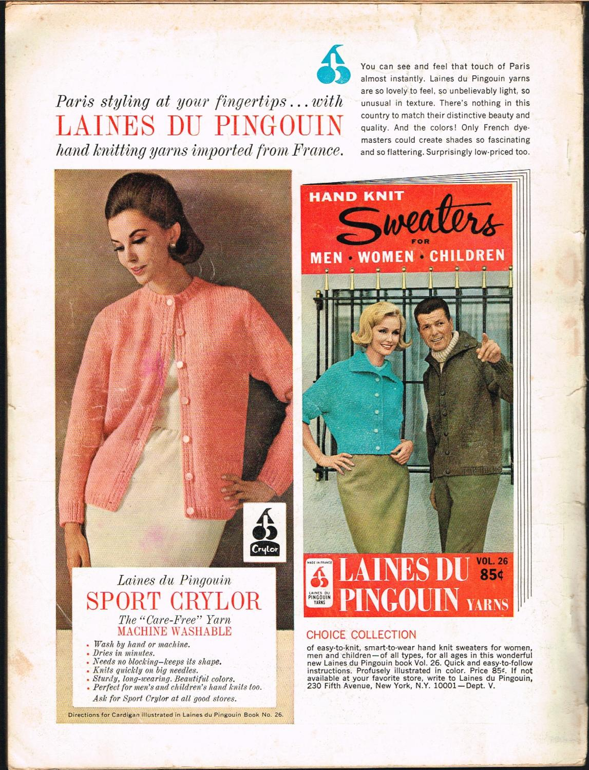 Vogue Knitting Spring and Summer 1965