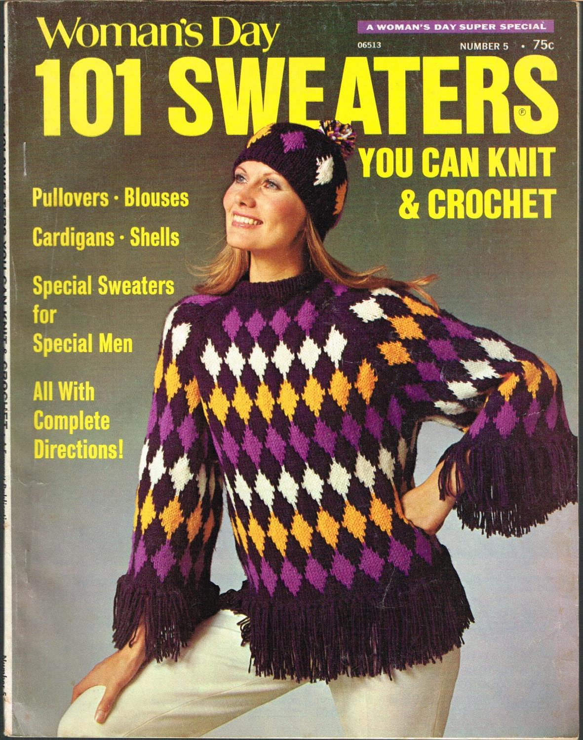Woman's Day 101 Sweaters You Can Knit and Crochet, Number 5: Saunders, Ellene, Editor.