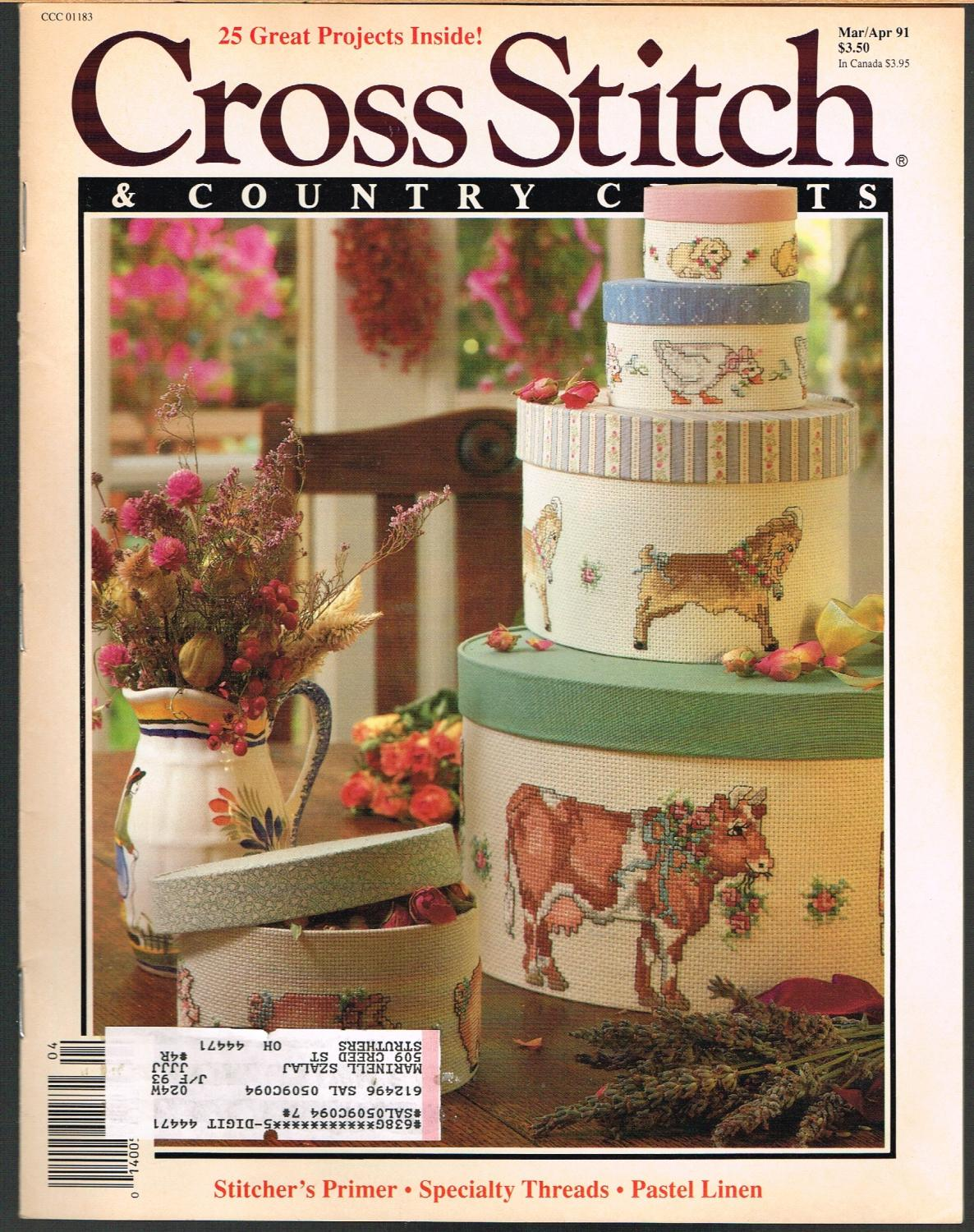 No Christmas Ornament Collection 4 Country Stitch November//December 1991 Vol 4