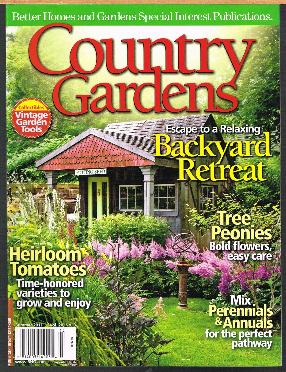 Country Gardens Summer 2011 Vol 20 No 3 Better Homes And