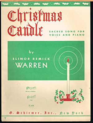 Christmas Candle, Sacred Song for Voice and: Warren, Elinor Remick,