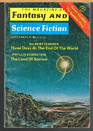 MAGAZINE OF FANTASY AND SCIENCE FICTION; September: FERMAN, EDWARD L.,