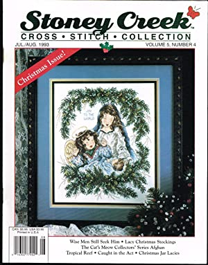 STONEY CREEK CROSS STITCH COLLECTION MAGAZINE, JULY/AUGUST 1993, VOLUME 5, NO. 4, Cat's ...