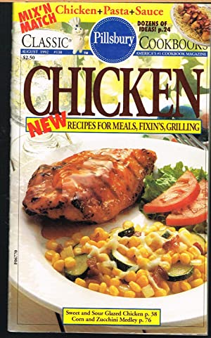 PILLSBURY CLASSIC COOKBOOK #138, August 1992; CHICKEN, New Recipes for Meals, Fixin's, Grilling.