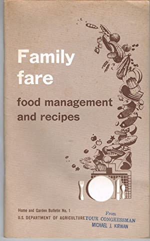 Family Fare; Food Management and Recipes, USDA: USDA Agricultural Research