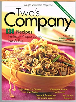 Two's Company, 191 Recipes Perfectly Proportioned for a Pair; Weight Watchers Magazine