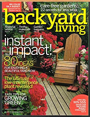 BACKYARD LIVING, August/Septembe 2008