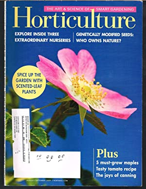 HORTICULTURE; the Art & Science of Smart Gardening, August/September 2009, Vol. 106, No 5
