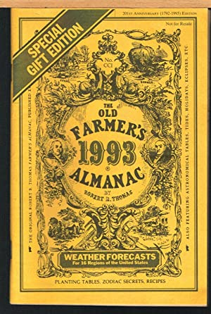 OLD FARMER'S ALMANAC 119, 201st Anniversary (1792-1993) Edition. Special Gift Edition.