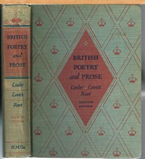 BRITISH POETRY AND PROSE, Shorter Edition: LIEDER, PAUL ROBERT.
