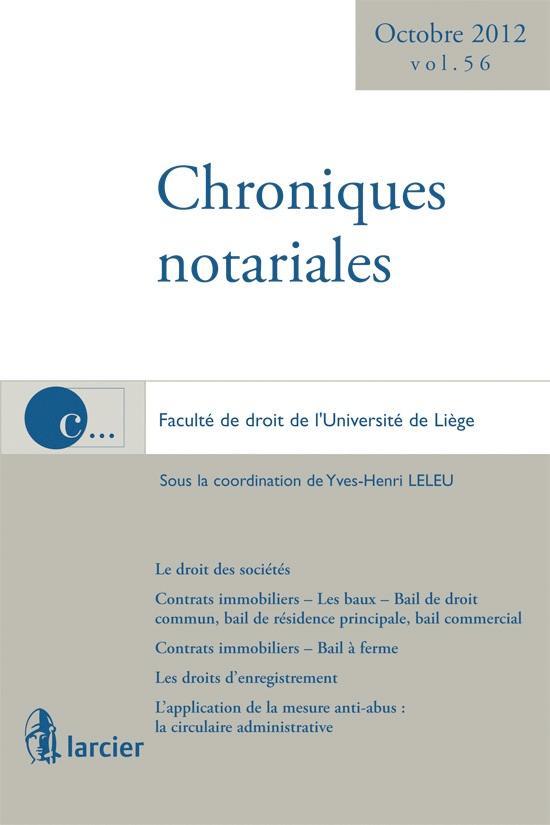 Chroniques notariales Chroniques notariales (56)