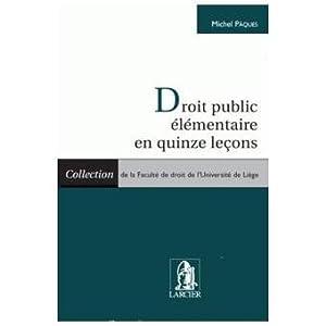Droit public élémentaire en quinze leçons: PAQUES (Michel)