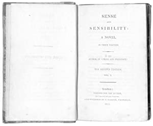 Sense and Sensibility: a Novel. In three: AUSTEN, Jane.