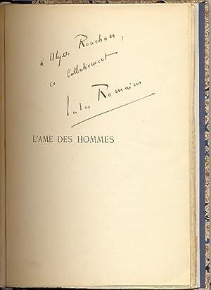 L'Âme des hommes.: ROMAINS, Jules, pseud.