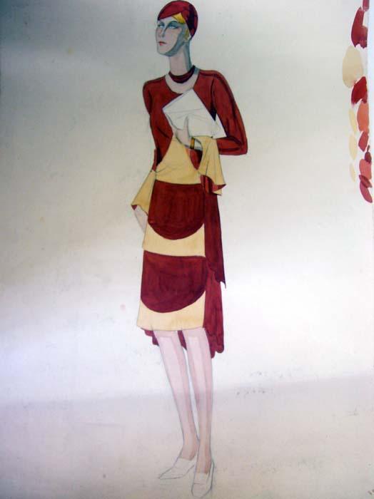 Modezeichnung.: Pohl, Hanna:
