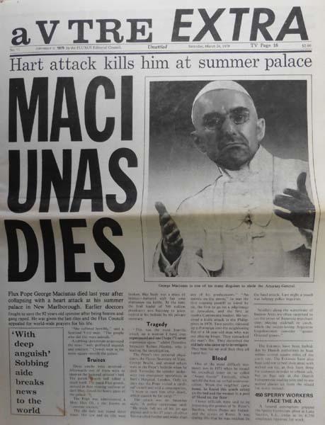 V Tre. a V Tre EXTRA. No. 11. Unsettled. Saturday, March 24, 1979. Maciunas Dies.