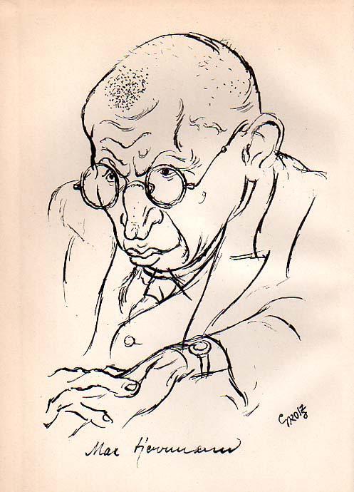 Einsame Stimme. Ein Buch Gedichte von Max Herrmann.: Grosz, George - Max Herrmann [Neisse]: