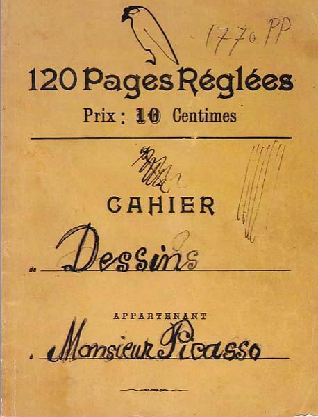 120 Pages Reglees. Prix: 10 Centimes. Cahier: Picasso, Pablo -