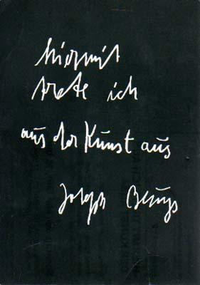 Brennpunkt 2: Hiermit trete ich aus der: Beuys, Joseph: