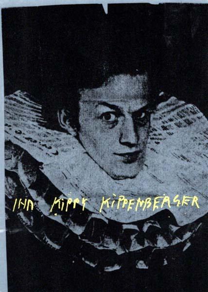 Ihr Kippi Kippenberger. Einladung zur Ausstellungseröffnung und: Kippenberger, Martin: