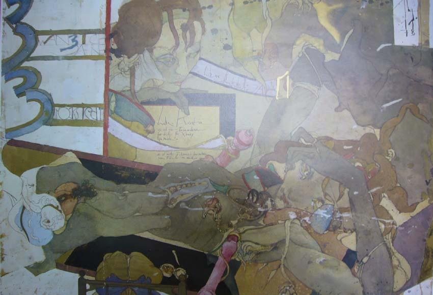 Aquarelle. [Plakat], Galerie Brockstedt, Hamburg, November [1978] bis Januar [1979].: Janssen, ...